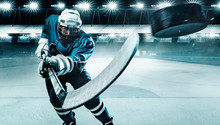 Ice Hockey Player Athlete In T...