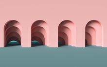 3d Render, Abstract Minimalist...
