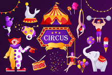 Circus Banner Template. Set Of...