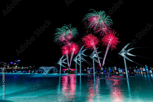 Canvas Print Fireworks at Cairns