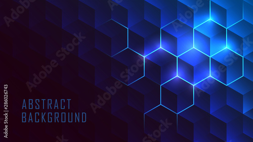 Carta da parati Isometric Hive glowing gradient