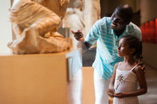 Man And His Daughter At Hall Of Museum