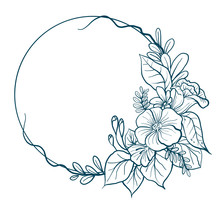 Hand Drawn Vector Illustration - A Wreath Of Laurel Vintage. For Wedding Invitations, Greeting Cards, Quotes, Blogs, Posters, And More.