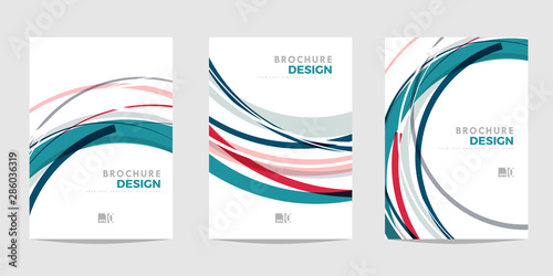Design template for Brochure, Flyer or Depliant for business purposes Tablou Canvas