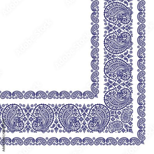 Foto Ornament scarf design using beautiful paisley,