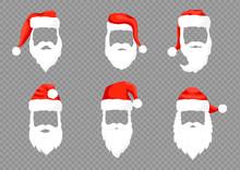 Santa Claus Hats Moustache, Be...