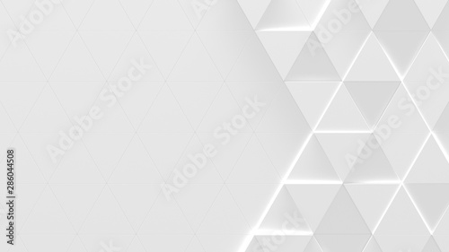 White Triangle Background With Copy Space (3D Illustration)