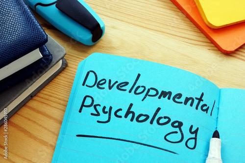 Fotografie, Obraz  Developmental psychology sign on the blue page.