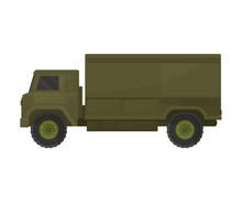 Khakki Truck. Vector Illustration On A White Background.