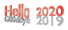 3d Illustration Of 2020 New Ye...