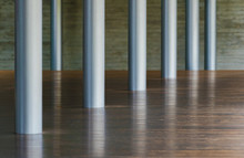 Metal Column And Wooden Floor ...