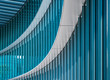 canvas print picture - Architecture detail Modern Building Glass facade wall curve pattern Exterior