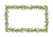 Watercolor Vector Christmas Fr...