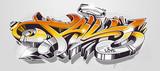Fototapeta Młodzieżowe - Fall Graffiti Wild Style Vector