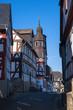 Kleine Gasse mit Fachwerkhäusern in Braunfels/Deutschland