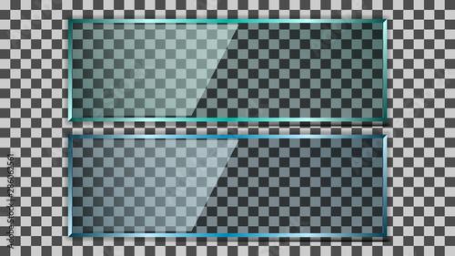 Realistic transparent glass plate Fototapet