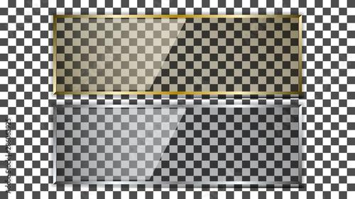Realistic transparent glass plate Canvas-taulu