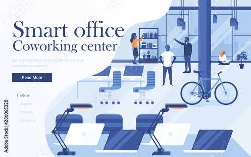 Flat Modern design Illustration of Coworking