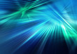 canvas print picture abstract colourful background with blue and green light and stripeв rays of light spreading in different directions and crossing