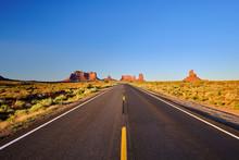 Empty Scenic Highway In Monume...
