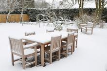Patio Garden Furniture In Winter