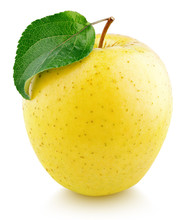 Yellow Apple Fruit With Green ...