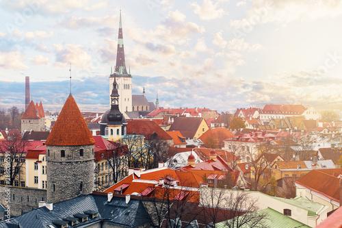 Panorama of old Tallinn, Estonia Wallpaper Mural