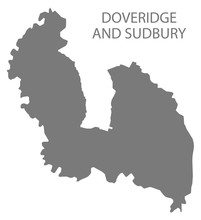 Doveridge And Sudbury Grey Ward Map Of Derbyshire Dales District In East Midlands England UK