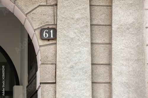 Papel de parede  61, ancient house number Europe, concept number