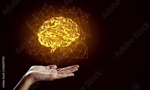 Obraz AI and future concept - fototapety do salonu