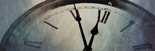 Panoramic Image Retro Clock Wi...