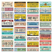 Car Plates. Set Of American Ve...