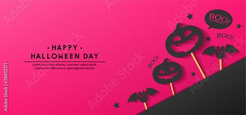 Spoed Fotobehang Halloween happy halloween day banner vector design 2019