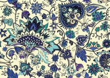 Paisley. Seamless Textile Flor...