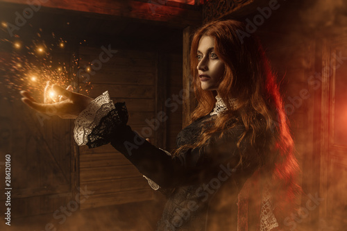 redhead angry witch Fototapet