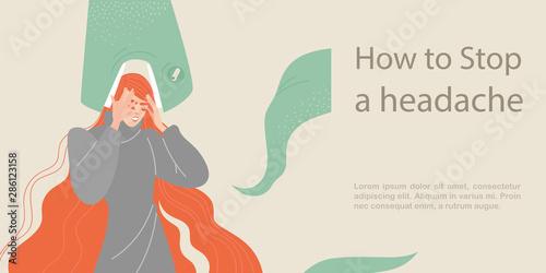 Fotografía How to stop a headache