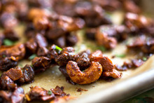 Close Up Of Tamarind Spiced Mixed Nuts