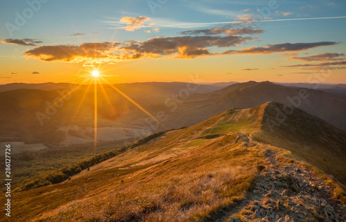 Obraz Bieszczady - Carpathians Mountains  - fototapety do salonu