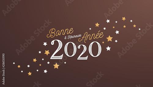 carte de vœux 2020 Bonne et Heureuse Année 2020, carte de voeux   Buy this stock