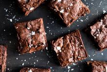 Close Up Of Chocolate Brownies