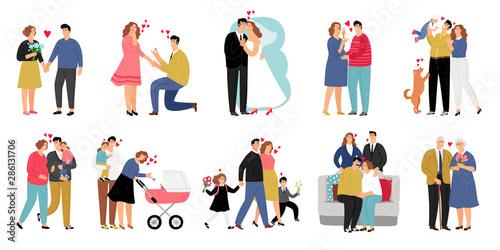 Fototapeta Stages of family