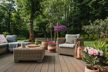 Elegant Garden Furniture On Te...