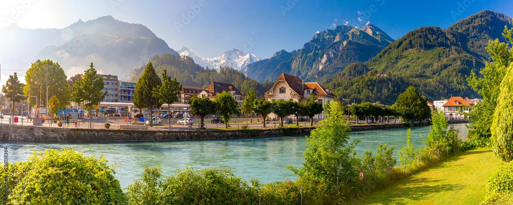 Fototapety, obrazy: Old City of Interlaken, Switzerland