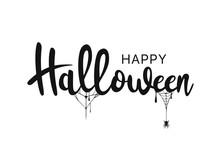 Happy Halloween Lettering. Han...