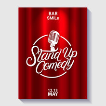 Stand Up Comedy Lettering Poster