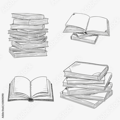 Valokuva  Open book isolated on white background