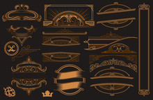 Vector Set Of Elements For Design.