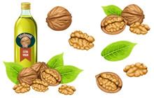 Set Walnut Oil, Seed And Leaf....