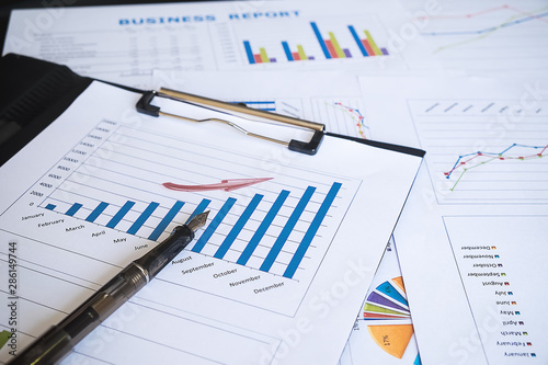 Fototapeta Showing business and financial report. Accounting obraz