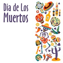 Dia De Los Muertos, Mexican Day Of Dead, Holiday Or Fiesta
